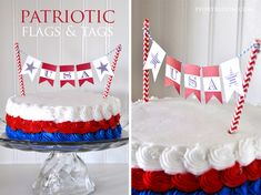 Patriotic tags and flags • free PDF at Ivory Bloom. #pickyourplum #twine and #straws