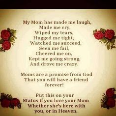 Positive Inspirational Quotes: My Mom has made me laugh...