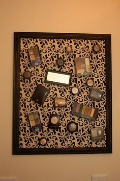Ideas for different DIY magnetic make-up holders