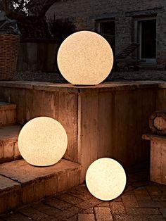 Stone Effect Boulder Lights