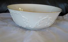 Rare Lenox Carved Serving or Fruit  Bowl  by ChinaGalore on Etsy
