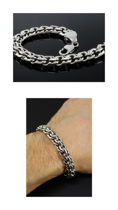 🔥DynamiS Jewellery🔥 - sterling silver jewellery crafted with great attention to the smallest details & will be worn at all ages. Our Jewellery is made to las. Silver Chain For Men, Mens Silver Jewelry, Sterling Silver Bracelets, Jewelry Crafts, Handmade Jewelry, Handmade Sterling Silver, Bracelets For Men, Biker, Men's Fashion