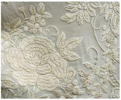 Hand-embroidered silk cloak, c.1890-1900 2