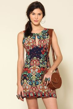vestido gota costas jardim cashemier Zai - Farm Rio