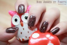 ↂ Wooden Nails by diamant sur l'ongle
