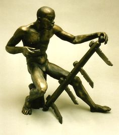 Adam Madebe - 'Yoke Maker' 1992 ceramic
