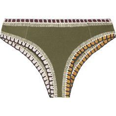956658b379 Kiini Wren crochet-trimmed briefs ( 120) ❤ liked on Polyvore featuring  swimwear