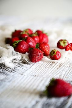 Strawberries on White ~ Mary Wald's Place - Strawberry Red Fruit, Fruit And Veg, Fruits And Veggies, Tutti Frutti, Strawberry Patch, Strawberry Fields, Strawberry Fruit, Fruit Photography, Food Art