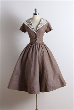 Vintage 50s Dress vintage 1950s dress by millstreetvintage #womensfashionvintage1950s