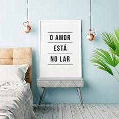 7995042a18 Quadro Poster Decorativo Frase - O Amor Está no Lar