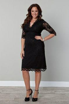 Scalloped Boudoir Lace Dress-BLACK LACE / BLACK LINING $168