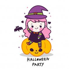 Vivid8 | Freepik Kawaii Halloween, Cute Halloween, Halloween Vector, Halloween Stickers, Desenhos Halloween, Unicorn Wallpaper Cute, Fall Arts And Crafts, Unicorn Painting, Unicorn Pictures