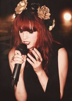Florence Welch~amazing voice, amazing hair, what's not to like? :)