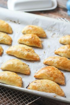 Beef Empanadas - The Wanderlust Kitchen. Has dough recipe- could fill with anything and use same cook time.