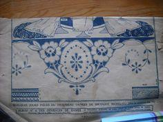 Superbe brise-bise en lin, brod la Richelieu et dentelle fuseaux 1900 - Google Search
