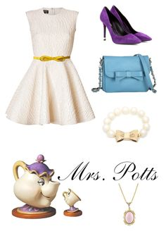 """Mrs. Potts"" by krusi611 ❤ liked on Polyvore featuring moda, Giambattista Valli, Lodis, Nicholas Kirkwood, Knights and Roses, Kate Spade y 1928"