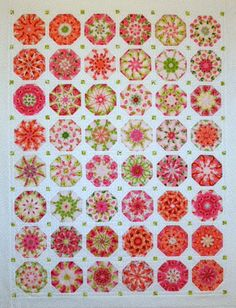 Pink & Orange Octagons | by Linda Rotz Miller Quilts & Quilt Tops