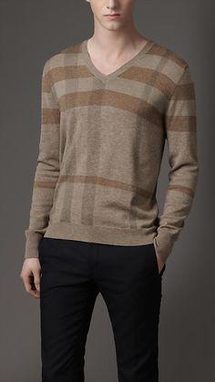 Check Shoulder Wool Sweater -- Burberry Prorsum, Fall 2012