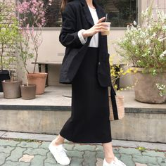 Look at this Trendy korean fashion outfits 2131631137 Korean Fashion Trends, Korean Street Fashion, Korea Fashion, Asian Fashion, Trendy Fashion, Women's Fashion, Fashion Styles, Fashion Outfits, Fashion Women
