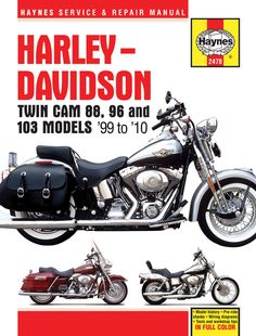 Haynes M2478 Repair Manual for Harley-Davidson Twin Cam 88 / Dyna Glide / Electra Glide / Road King / Road Glide