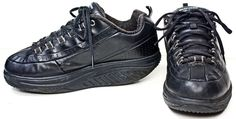 Women's Skechers Work Black Leather Slip Resisitant Shape Ups 76428 Shoes Sz 9 #SKECHERS #WorkSafety