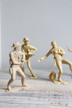 Vintage Marx Cowboy Figures, I actually did an instillation for uni using similar cowboys. Still love em.