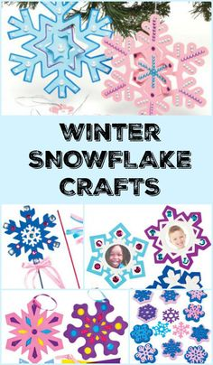Adorable winter snowflake crafts for kids