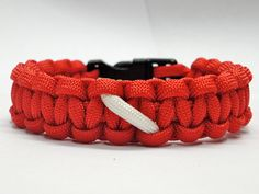 New Paracord Bracelet Scuba Team Fire Department Flag red white Made in u.s.a.. $7.00, via Etsy.