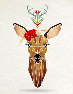 Geometric Illustrations Of 'Hipster' Animals Inspired By Tangram Puzzles - DesignTAXI.com