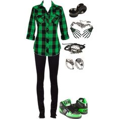 Green sk8r outfit