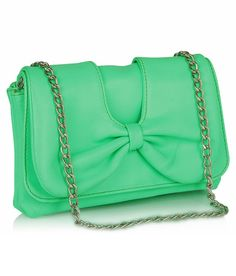 Butterflies Green P.U. Clutch