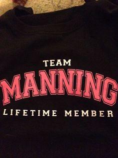 Lifetime Member....Team Manning:)!