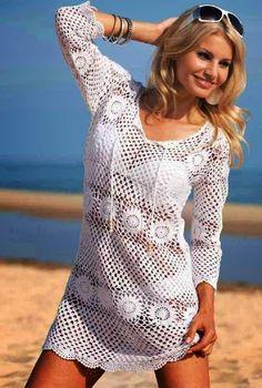 Se adicionado um forro, vira um belo vestido..   Se não.. uma moderníssima saída de praia...                 grafico sugerido 1   grafico s...