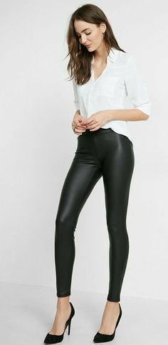 Super Sexy Faux Leather Leggings | Faux Leather Leggings | Leggings | Pants | Women's Fashion #ad #fashion #leggings #style #womens