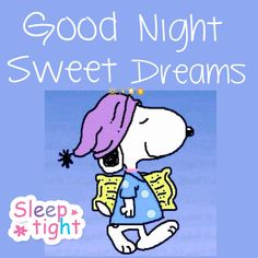 Good Night Sweet Dreams with Snoopy. ✨