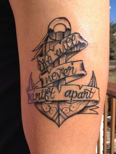 brother and sister tattoo we will never drift apart tattoos anchor an Brother Tattoos, Sibling Tattoos, Family Tattoos, Tattoo Sister, Trendy Tattoos, Cute Tattoos, All Tattoos, Body Art Tattoos, Tatoos