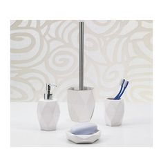 Gedy by Nameeks Laundry 4-Piece Bathroom Accessory Set