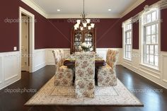 maroon kitchen pictures   Dining room with maroon walls   Stock Photo © lmphot #8710207