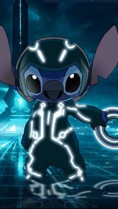 Stitch in tron legacy Lilo And Stitch 2002, Lilo Et Stitch, Disney Stitch, Disney Pixar, Disney And Dreamworks, Disney Drawings, Cute Drawings, Toothless And Stitch, Stitch Drawing