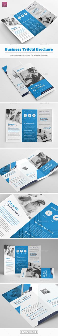 Business Trifold Brochure - Corporate Brochures Download here : https://graphicriver.net/item/business-trifold-brochure/19645043?s_rank=105&ref=Al-fatih