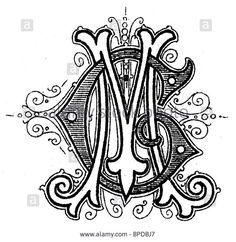 Monogram Mg Stock Photo, Picture And Royalty Free Image. Pic. 31027311