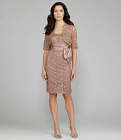 KM Collections Lace Jacket Dress #Dillards