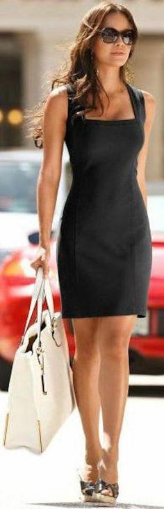 36 Chic Little Black Dress Outfits Style Estate - Fazhion Look Fashion, Womens Fashion, Fashion Trends, Trendy Fashion, Fashion Ideas, Fashion Black, Formal Fashion, Fashion 2015, Office Fashion