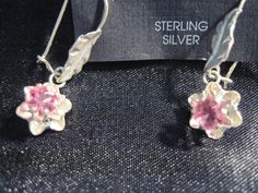 Drop-Dangle Hook Silver Plated Earrings with Pink Stone Design Upstream Trading #UpstreamTradingCompany #DropDangle