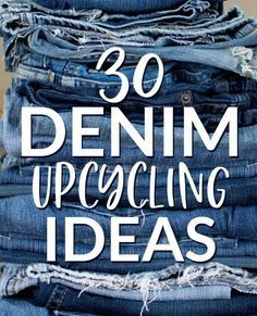 30 Denim-Upcycling-Ideen mit alten Jeans - Nähen 30 Denim-Upcycling-Id. 30 Denim Upcycling Ideas with Old Jeans - Sewing 30 Denim Upcycling Ideas with Old Jeans - Sewing - clothing ideas diy Artisanats Denim, Denim Rug, Jeans Fabric, Denim Quilts, Diy Jeans, Recycle Jeans, Denim Backpack, Denim Purse, Denim Shoes