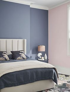 Colour Shades for Bedroom Luxury Runaway Matt Standard Emulsion Crown Paints Blue And Pink Bedroom, Pink Master Bedroom, Bedroom Wall Colors, Pink Bedrooms, Bedroom Color Schemes, Bedroom Decor, Bedroom Ideas, Crown Paint Colours, Best Paint Colors