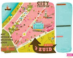 'tZuid Antwerpen Map by 'Zesti - © Ine Beerten 2013