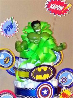 Superhero Diaper cake Parties & Surprises - Diaper Cakes