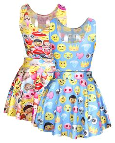 """""""Emoji shirts and dresses"""" by swagforever ❤ liked on Polyvore"""