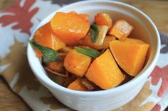 butternut squash roasted with coconut and sage.  #fall #recipe #thanksgiving